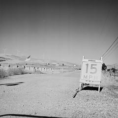 Greenville Road (Wayne-K) Tags: bw california film greenvilleroad hasselblad hasselblad500cm hasselblad80mmf28carlzeisscftplanarlens ilford ilfordxp2super400 livermore tiffenyellowfilter
