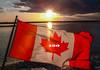 HAPPY 150TH BIRTHD'EH, CANADA! (RussellK2013) Tags: canada canadaday 150 britishcolumbia celebration anniversary flag mapleleaf birthday 1stjuly july1 2017 happybirthday eh sunset water ocean sea seascape fuji fujifilmfinepixs602 fujifilmfinepixs602zoom fujifilm finepix