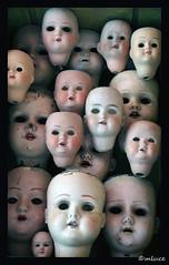 Collection particulière (1) ! (Milucide !) Tags: collection poupées fantaisie têtes ancien visages