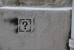 Eydo (emilyD98) Tags: street art insolite pochoir stencil rue des ursins paris mur wall eydo point interrogation 4 ème 75004 pixel urban exploration city ville