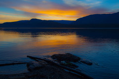 Tranquil (stevenbulman44) Tags: shuswap canon 1740f40l water reflection mountain dof tripod britishcolumbia sunset outdoor landscape