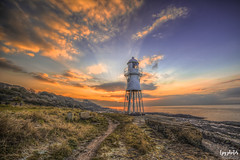 Black Nore Lighthouse (lpg_photos) Tags: blacknore lighthouse portishead somerset sunset clouds sea