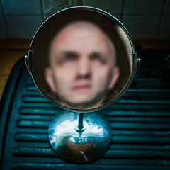 183/365 (efsb) Tags: 183365 project365 2015inphotos 2015yip mirror selfportrait reflection shavingmirror