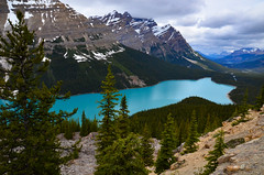 Peyto Lake (James_D_Images) Tags: glacier water lake blue minerals peyto banff national park alberta canada rockies mountains snow clouds forest landscape nature