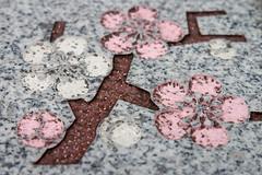 Omotesando Street, Narita (AnthonyK1982) Tags: japan honshu holiday vacation trip narita town omotesando street sightseeing bollard cherry blossom engrave engraving engraved carve carved carving tree decoration pink