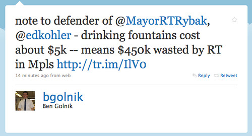 Ben Golnik on Cops vs Drinking Fountains