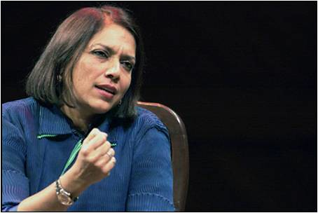 Mira Nair spoke at President Vishakha Desai's Forum Asia Society in New York.