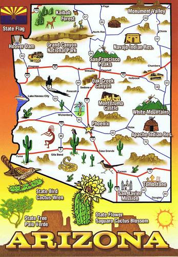 Similiar Map Of Arizona Attractions Keywords