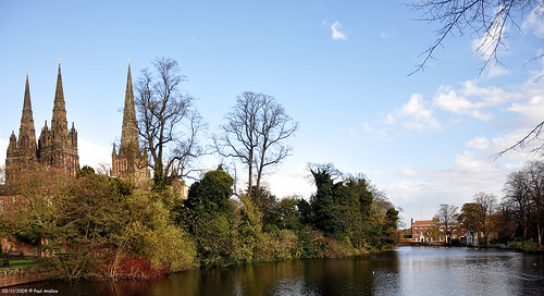 Minster Pool and Lichfield Cathedral