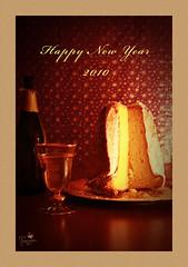 Happy New Year 2010 (Senzio Peci) Tags: italy food italia sweet sugar dolce sicily greetings cibo sparkling sicilia paterno happynewyear auguri 2010 zucchero pandoro spumante buonanno intothedeepofmysoul
