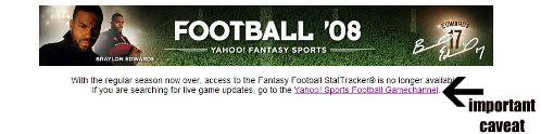 Yahoo Stattracker