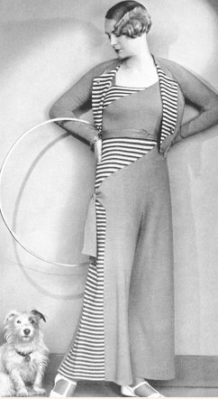 1930s knit beach wear