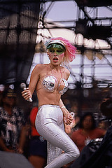"Dale Bozzio of Missing Persons, wearing ""The Outfit"""