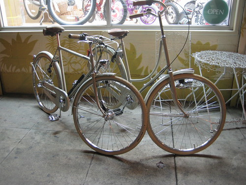 Belgian-made Achielle bikes at Flying Pigeon LA.