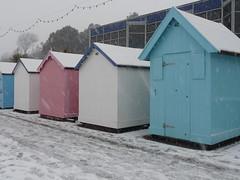 Neopolitan (jjohnboy2000) Tags: snow beachhuts felixstowe 3656