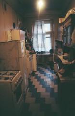 our amazing kitchen (mariapiessis) Tags: film stpetersburg russia olympus saintpetersburg om2 sanktpeterburg питер россия
