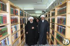 زيارة الأمين العام للعتبة الحسينية المقدسة سماحة الشيخ عبدالمهدي الكربلائي لقسم الشؤون الفكرية والثقافية