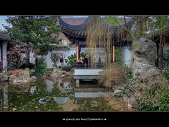 Lan Su Chinese Garden Portland Oregon - HDR (David Gn Photography) Tags: park city winter urban reflection water rock portland landscape pond downtown peace tranquility serenity oldtown hdr portlandclassicalchinesegarden canonpowershotsx1is lansuchinesegarden