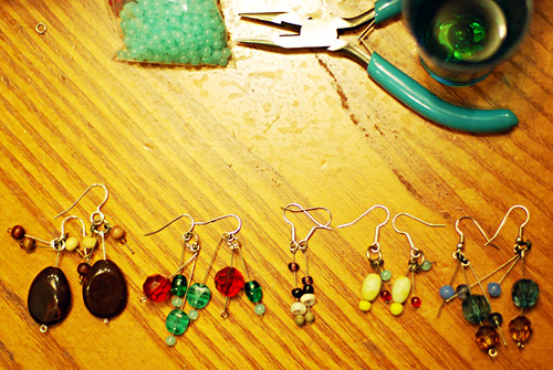 earrings line-up