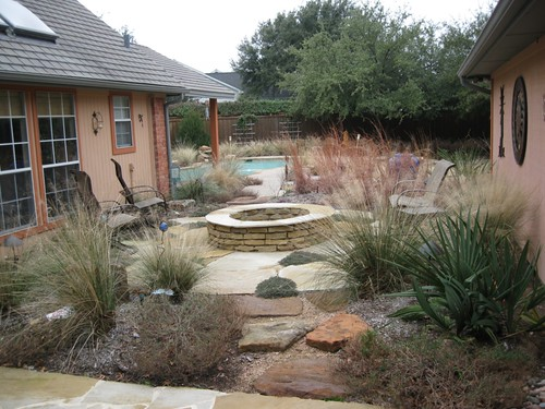 backyard yard landscaping