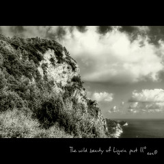 The wild beauty of Liguria part II (in eva vae) Tags: sea wild bw italy seascape nature water monochrome sepia clouds rocks eva italia mare liguria frame cape rocce squared muzzerone estremit theunforgettablepictures magicunicornverybest sailsevenseas inevavae