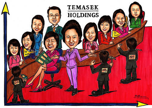 Group caricatures for Morgan Stanley (Temasek Holdings) A4