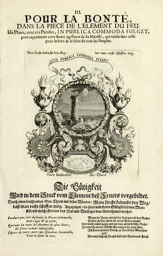 004- Divisa del tapiz el fuego para la bondad-Tapisseries du roy, ou sont representez les quatre elemens 1690- Sebastien Le Clerc
