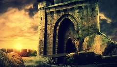 As far as I dare go! (flygg) Tags: door old sunset castle artwork fort nosferatu ghost dracula haunted spooky drawbridge transylvania vampires bats vlad vladthedragon