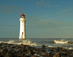 Perch rock Lighthouse (Mr Grimesdale) Tags: lighthouse liverpool waves stormy olympus breakers wirral newbrighton merseyside e510 rivermersey mrgrimsdale stevewallace newbrightonlighthouse perchrock perchrocklighthouse mrgrimesdale