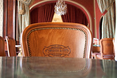 Chair at Cafe Gerbeaud, Budapest