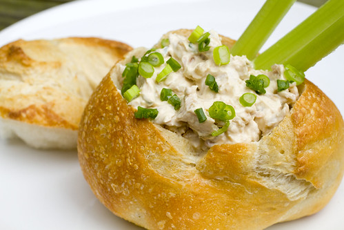 bacon clam dip in bread bowl 6