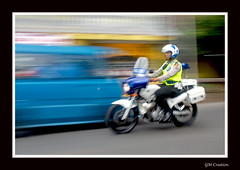 Polisi (allsaycheese) Tags: indonesia moving gm fast police creation motorcycle polisi