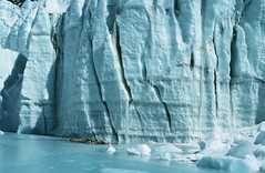 ice wall at Himalayan glacier (xtremepeaks) Tags: cold ice high altitude sunny glacier remote daytime himalaya himalayas crevasses serac nevepenitentes