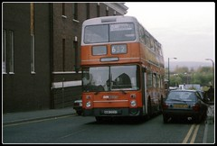 Serving the town of its birth (Zippy's Revenge) Tags: bus transport leyland towncentre wigan greatermanchester atlantean 4223 8223 gmbuses northerncounties gmn ncme gmbusesnorth ana223t
