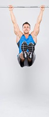 Chin Up Shot (Photosmudger) Tags: lighting sport magazine studio nikon published flash health setup workout fitness strobe mensfitness bookazine strobist
