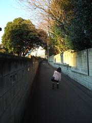 法明寺脇の小道