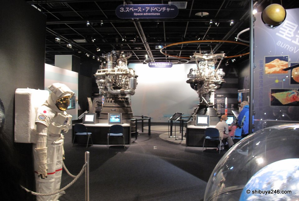 Lots of good exhibits in the astronaut and space area.