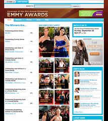 Yahoo Emmys site screenshot