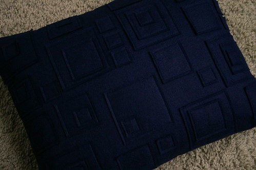 Navy Wool Felt Pillow