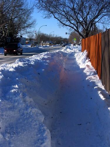 Snow plowed