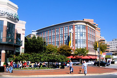 Bethesda Row's plaza in foreground (by: MV Jantzen creative commons license)
