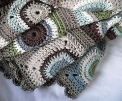 Circle squares blanket (Sue McLoughlin) Tags: blue brown white green colours squares circles crochet merino blanket rug cashmere aran throw grannysquares woolyarn crochetblanket crochetedging crochetthrow crochetrug