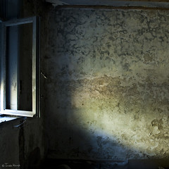 windowlight (moggierocket) Tags: old blue house abandoned window yellow wall open interior room textures decrepit chiaroscuro