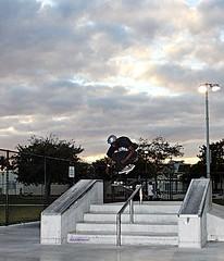 Tre Flip Over handrail (sk8miami) Tags: mike andy pie paul skateboarding kick d g air nelson brain ollie 180 skatepark will flip r skateboard manual zack 50 boneless javier tweaked 5050 alx sk8 heal  kickflip fabien back180 heelflip noseslide nosegrab regal4 tailstall indygrab pentaxdafisheye1017mm skatemiami miamiskatepark sk8miami miaskatepark031409 360shuv kendallfreepark deckgrab westwindlakes feepark kendallskatepark miamiskateboarding sk8miaminet westwindlakesskatepark westwindlakespark skateboarddowntownmiami