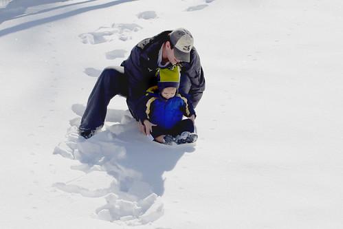 ethan sledding