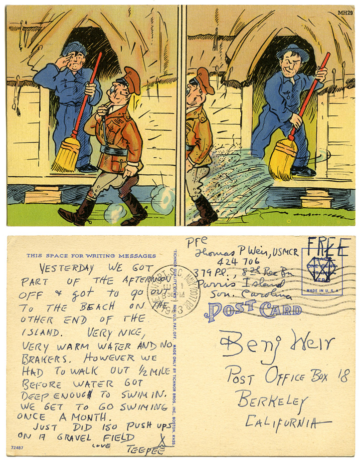 1943 military humor postcard_tatteredandlost