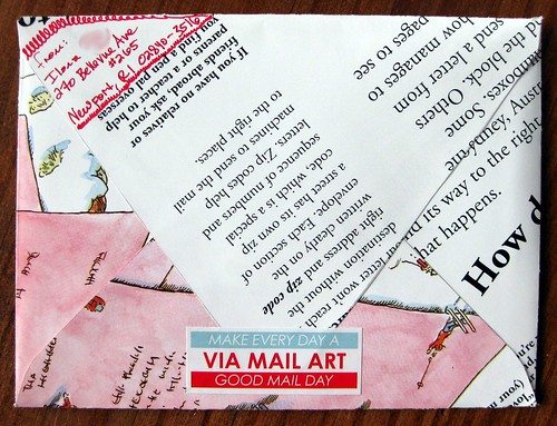 book page envelope