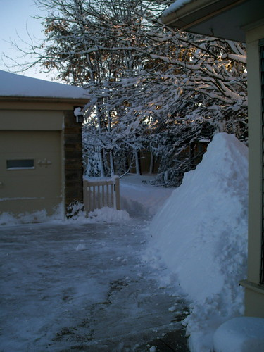 The 6-foot snow pile