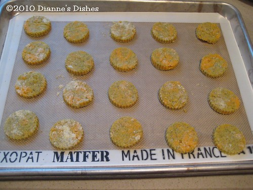 Cheddar and Dill Cornmeal Cookies: Ready to Bake