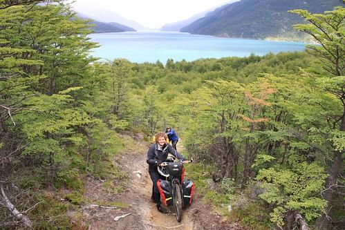 Starting pushing at Lago del Desierto